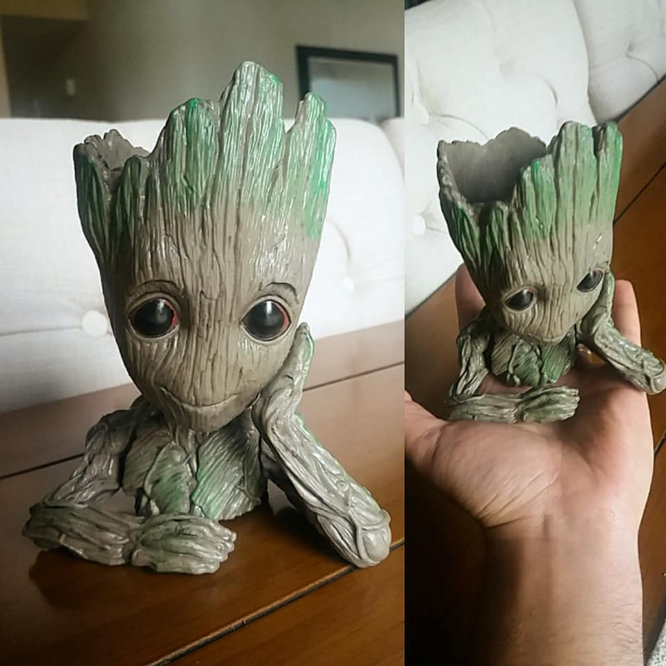 Groot Replica Flower Pot Planter Statue Decoration Desk Ornament Aquarium Sculpture Pencil Cup Guardians of the Galaxy