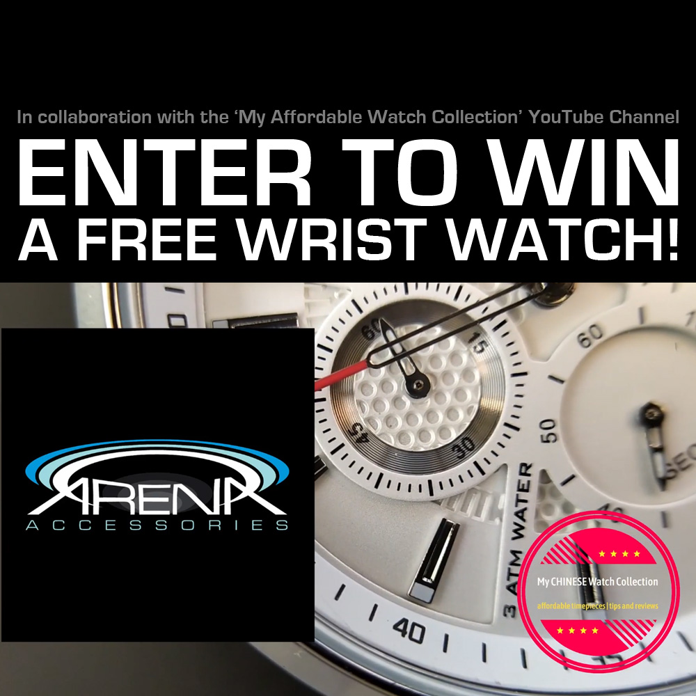 Enter to Win a Free Quartz or Automatic Mechanical Wrist Watch from Arena Accessories