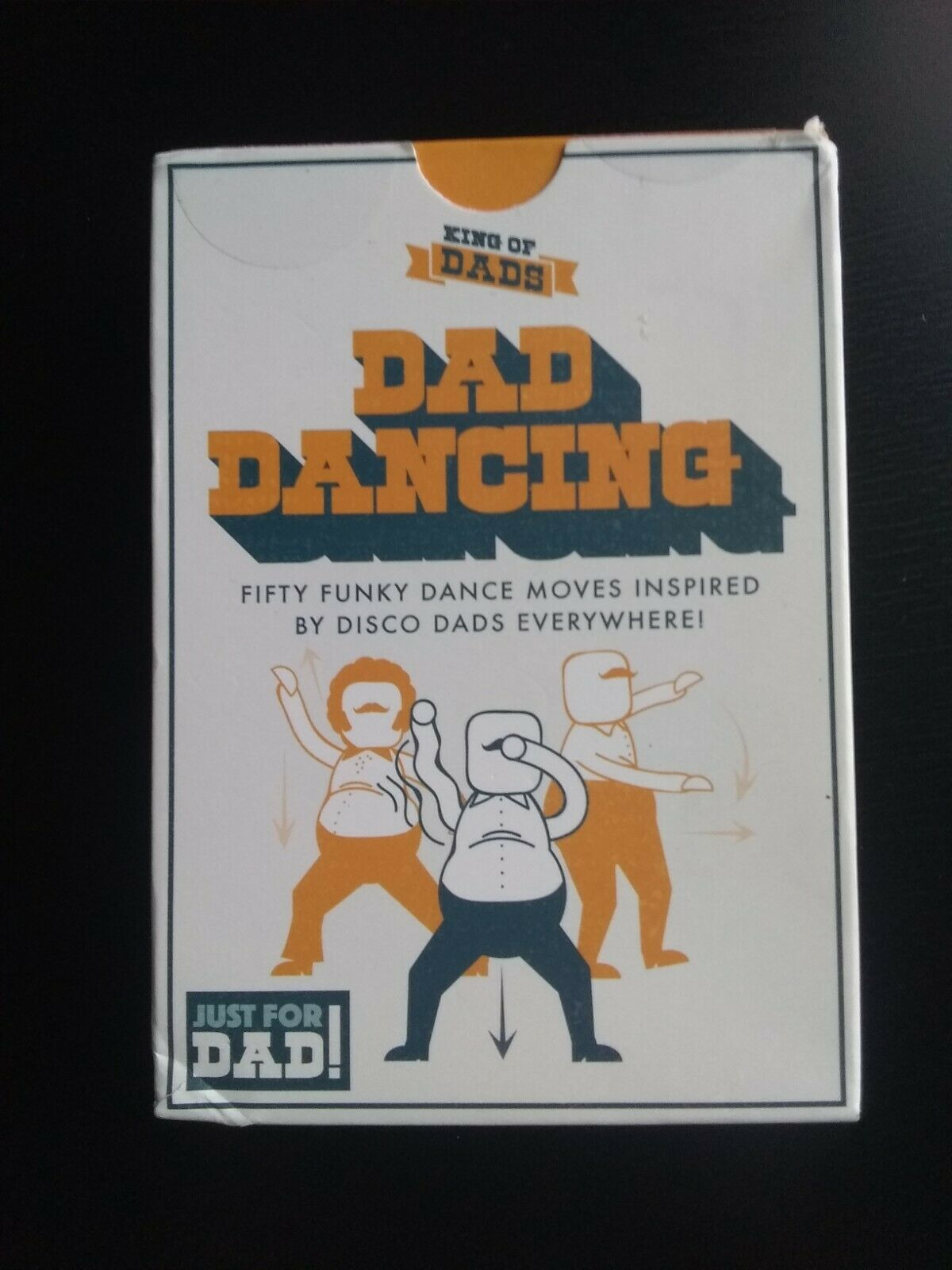 King of DAD DANCING Moves 50 Funky Disco Dance Cards Game Card Set Fathers Gift