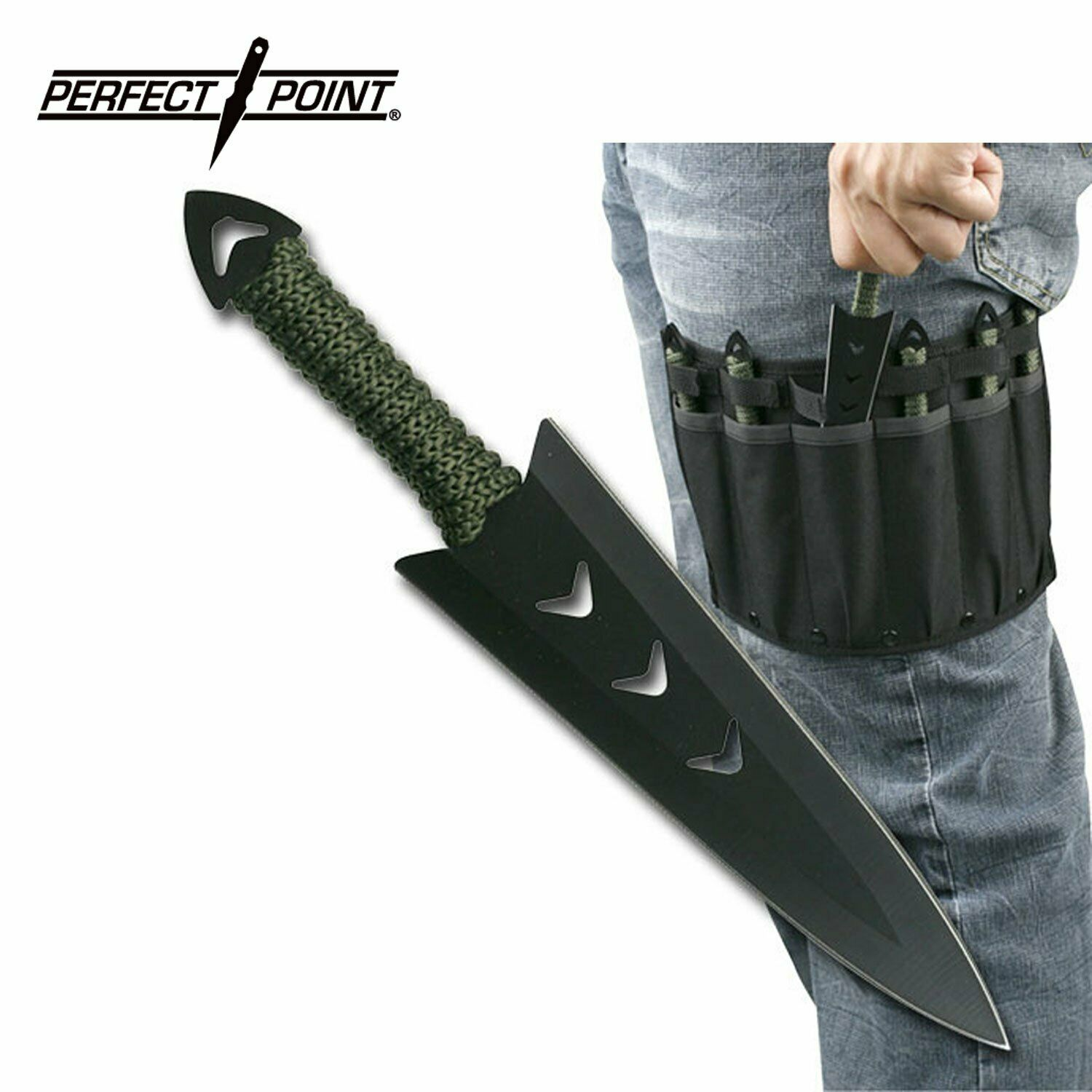 6 PC SET Perfect Point Throwing Knives 6.5