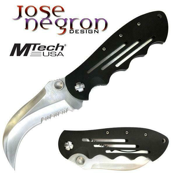 Jose Negron Design Manual Folder Pocket Knife Hawk Bill Blade Unique EDC