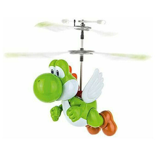 Carrera Yoshi RC Helicopter Super Mario Bros 2.4 gHz Nintendo Flying Toy Gift