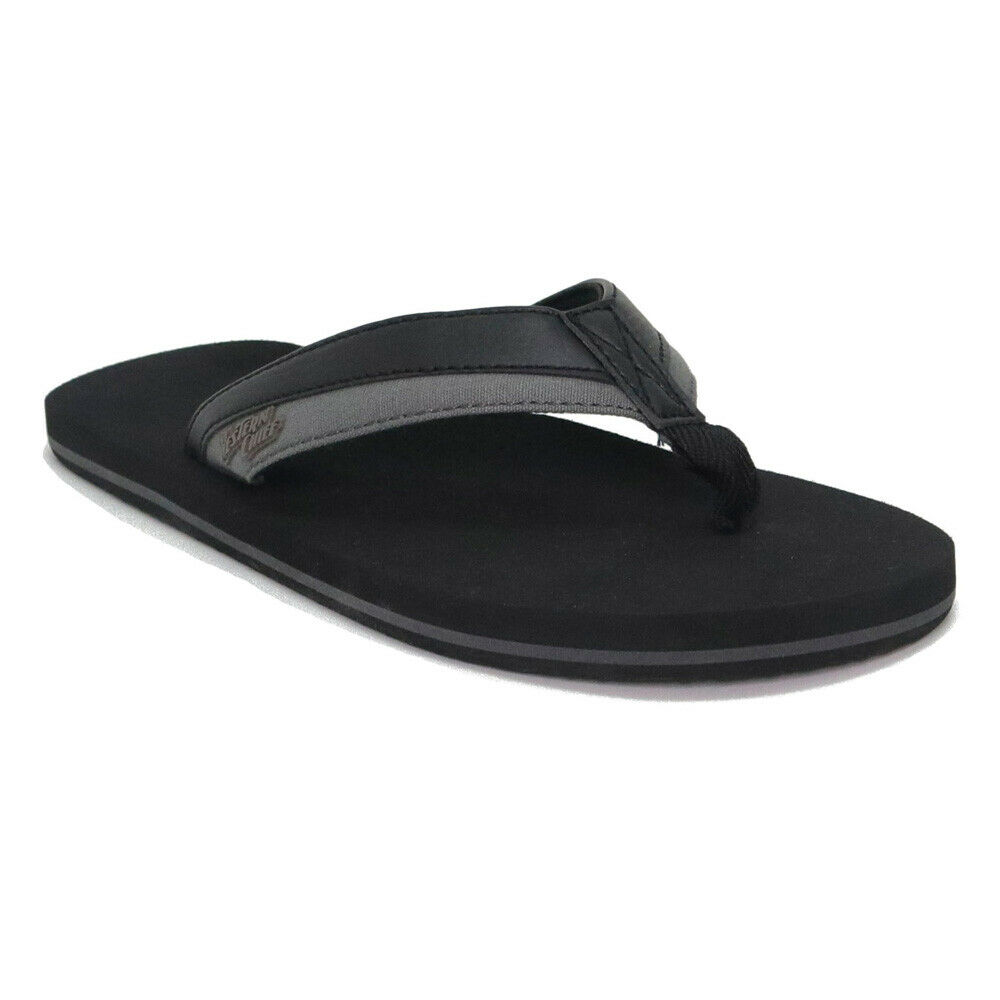 Western Chief Mens Flip-Flops Sandals Casual Thong Cushioned Insole Size 10 Black