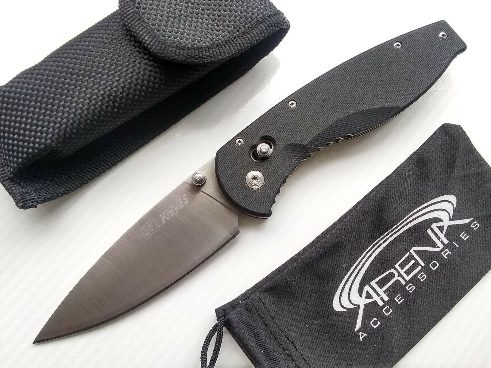 SR Knives 621A Manual Axis Lock Blade Pocket G10 EDC Tip-Up Deep Carry Clip
