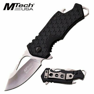 Silver Spring Assisted Pocket Knife Blade EDC Beer Bottle Opener