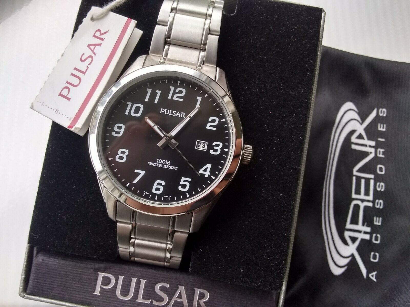 Pulsar by Seiko PH9001X Japan Quartz Movement Mens Wrist Watch with Date Stainless Steel