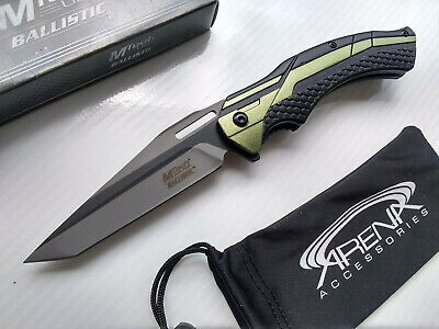 Tanto Pocket Knife Star Wars Jedi Style Fighter Jet Green Glass Breaker EDC