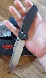 Ganzo F7562-CF Real Carbon Fiber Scales Pocket Knife with Axis Lock and Tip-Up Carry Clip