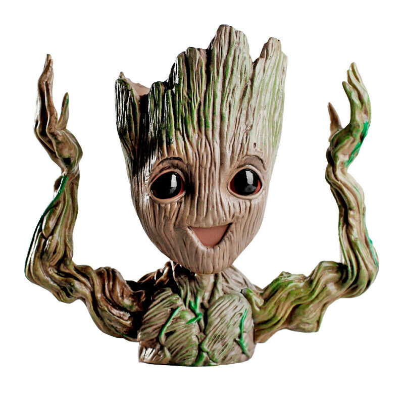 Baby Groot Hands In The Air- Guardians of The Galaxy Pen Holder or Flower Pot Collectible