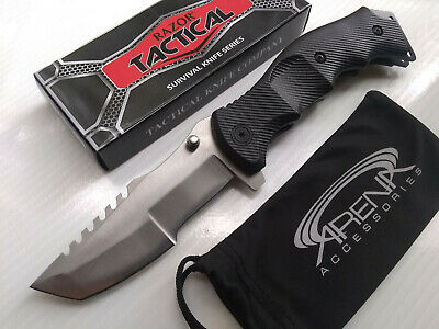 Razor Tactical CSGO Black Huntsman TANTO Blade Spring Assisted Pocket Knife Flipper EDC Hunting