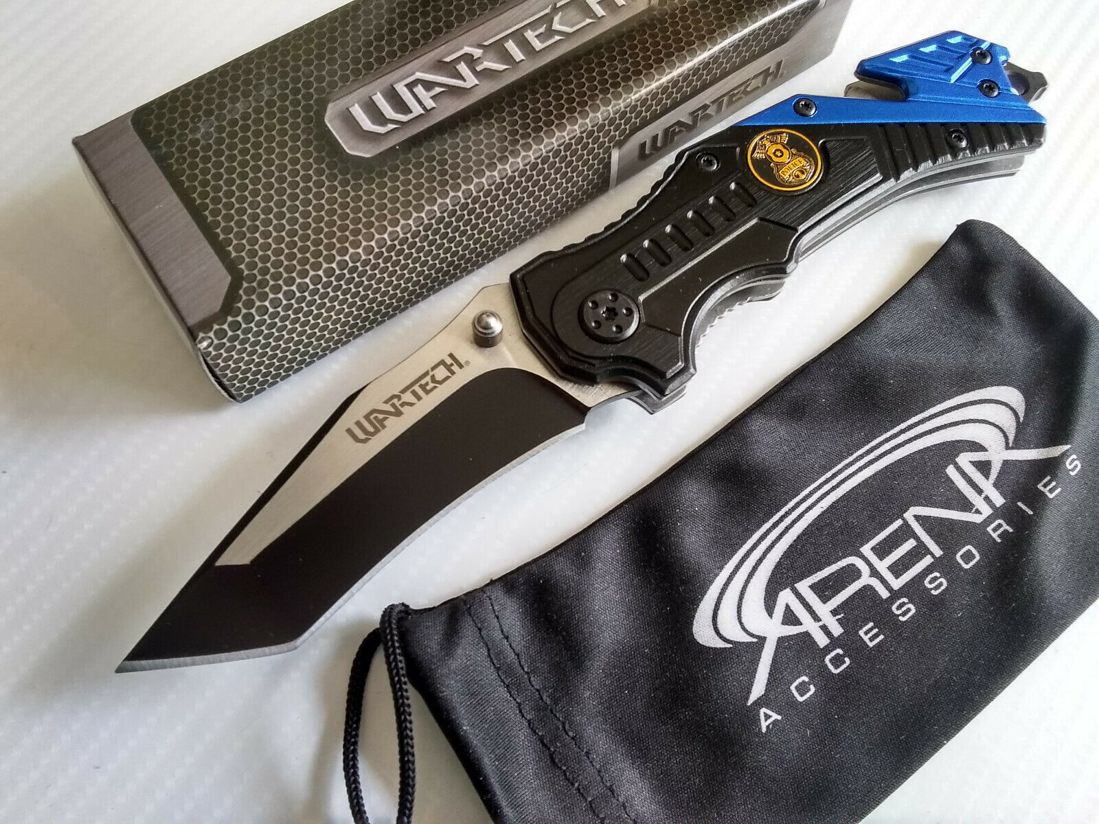 Wartech Police Department Officer Rescue Tanto Blade Spring Assisted Pocket Knife Gift EDC