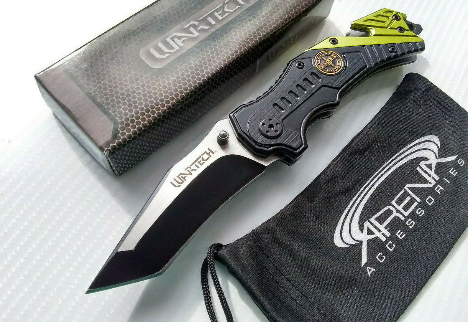 Wartech Army Rangers Military Rescue Tanto Blade Spring Assisted Pocket Knife Gift EDC Veteran