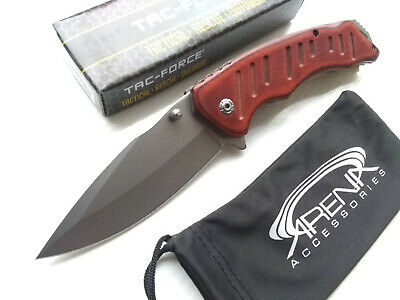 Tac-Force Gentleman's Spring Assisted Blade Pocket Knife Steampunk Wood Handle EDC Flipper