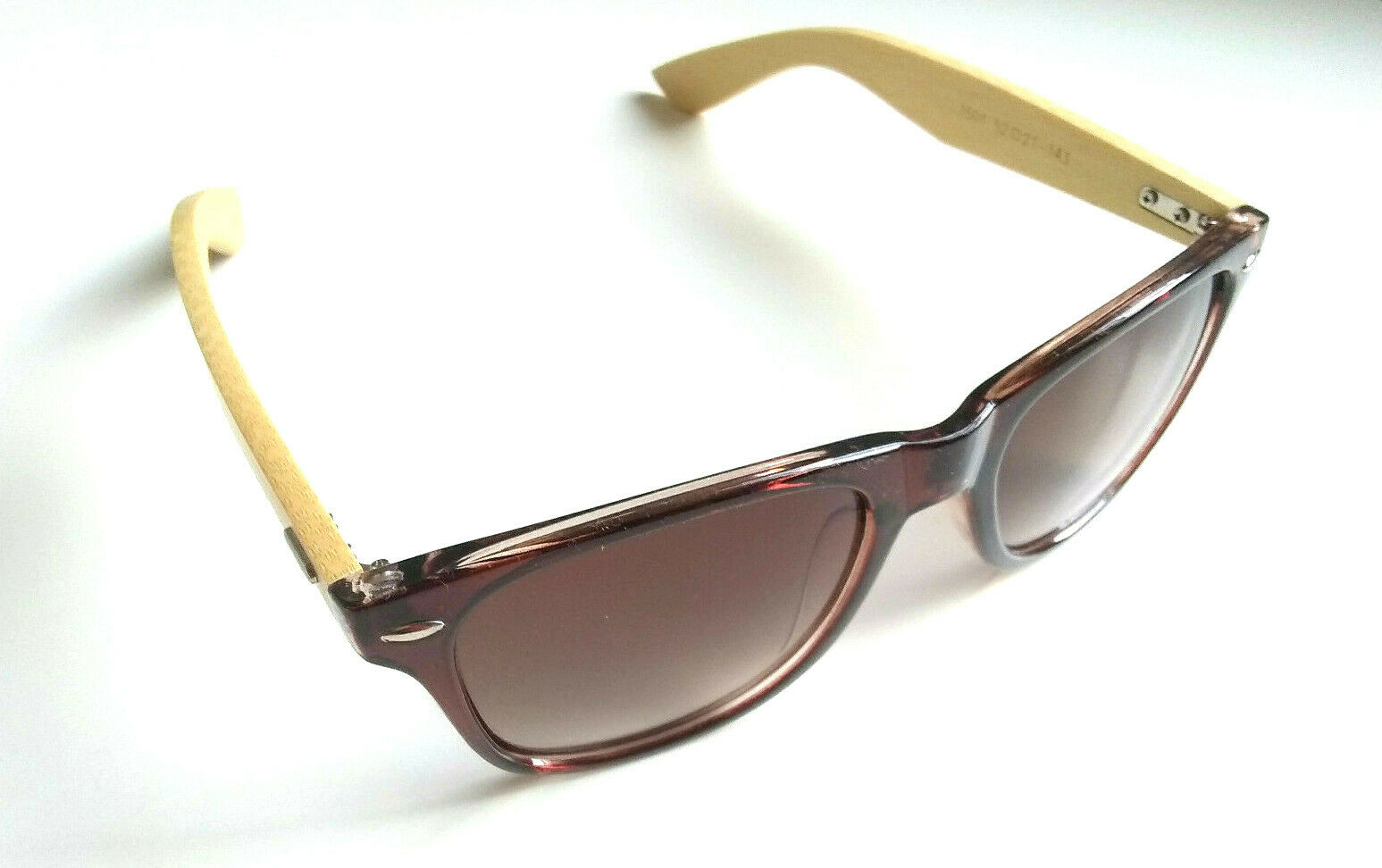 Bamboo Wood Sunglasses Square Brown Frames Premium Quality Lightweight Handmade