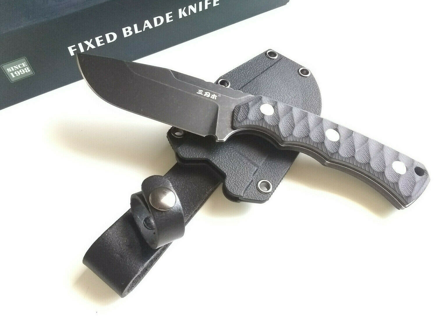 Sanrenmu S738-1 Concealed Carry 8Cr14MoV EDC Fixed Blade Knife G10 Handle With Kydex Sheath EDC