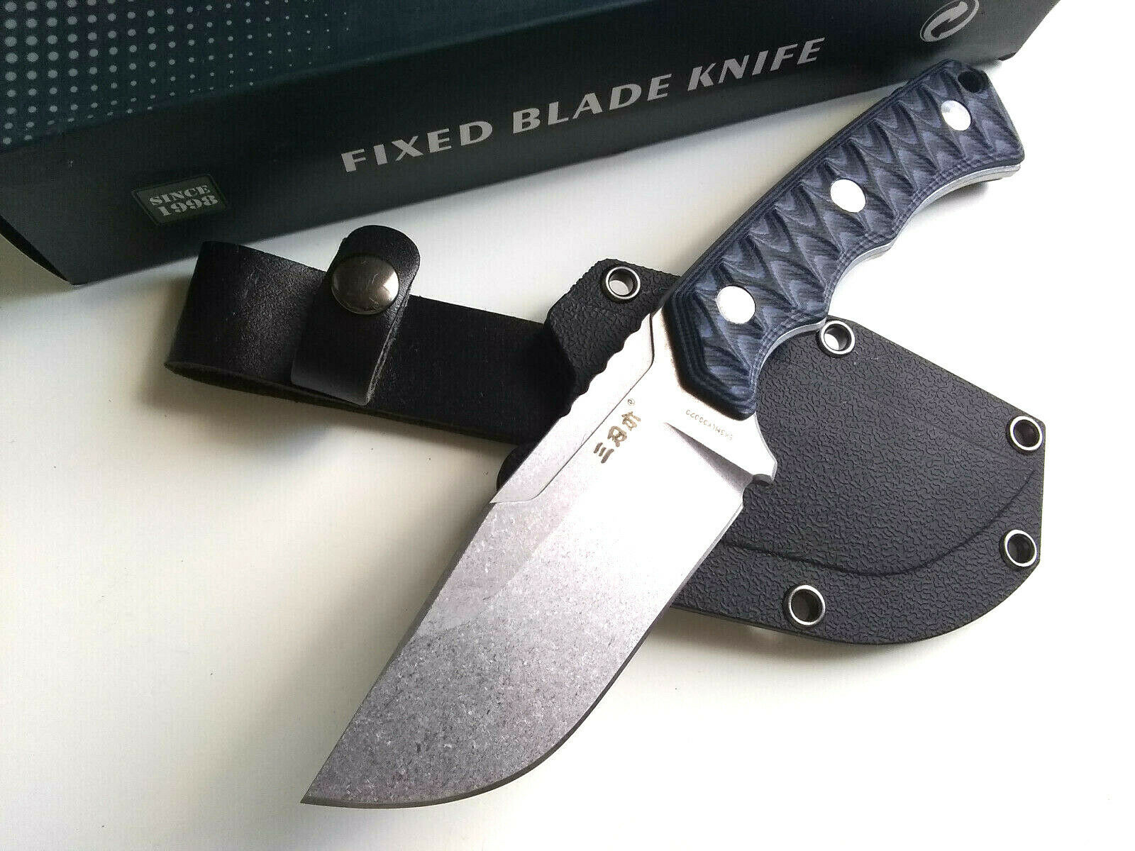 Sanrenmu S738-2 Concealed Carry 8Cr14MoV EDC Fixed Blade Knife G10 Handle With Kydex Sheath EDC