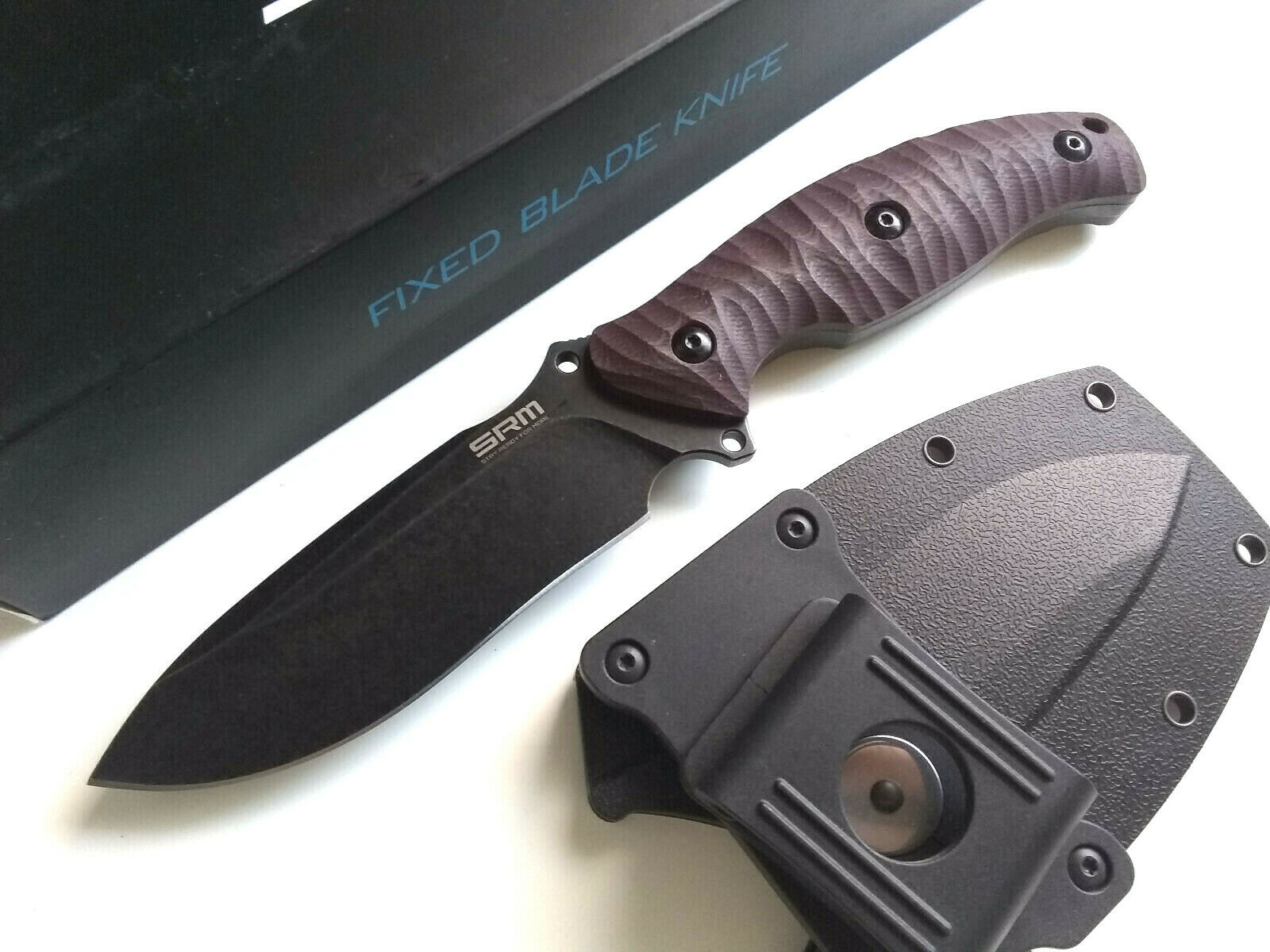 Sanrenmu S745 Horizontal Concealed Carry 14C28N Sandvik Steel Fixed Blade Knife G10 Handle EDC