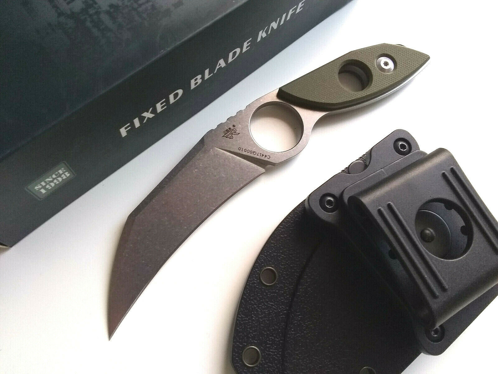 Sanrenmu S615-1 Horizontal Concealed Carry 8Cr14MoV Full Tang Fixed Blade Knife EDC