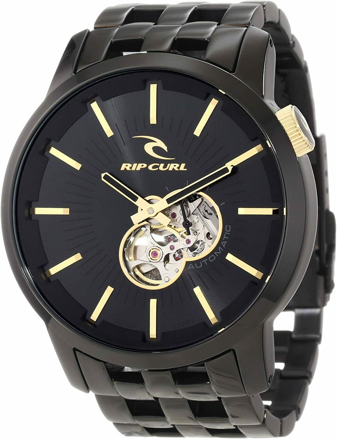 Rare Rip Curl Detroit A2405 Automatic Men's Watch Stainless Steel 100M 21 Jewels