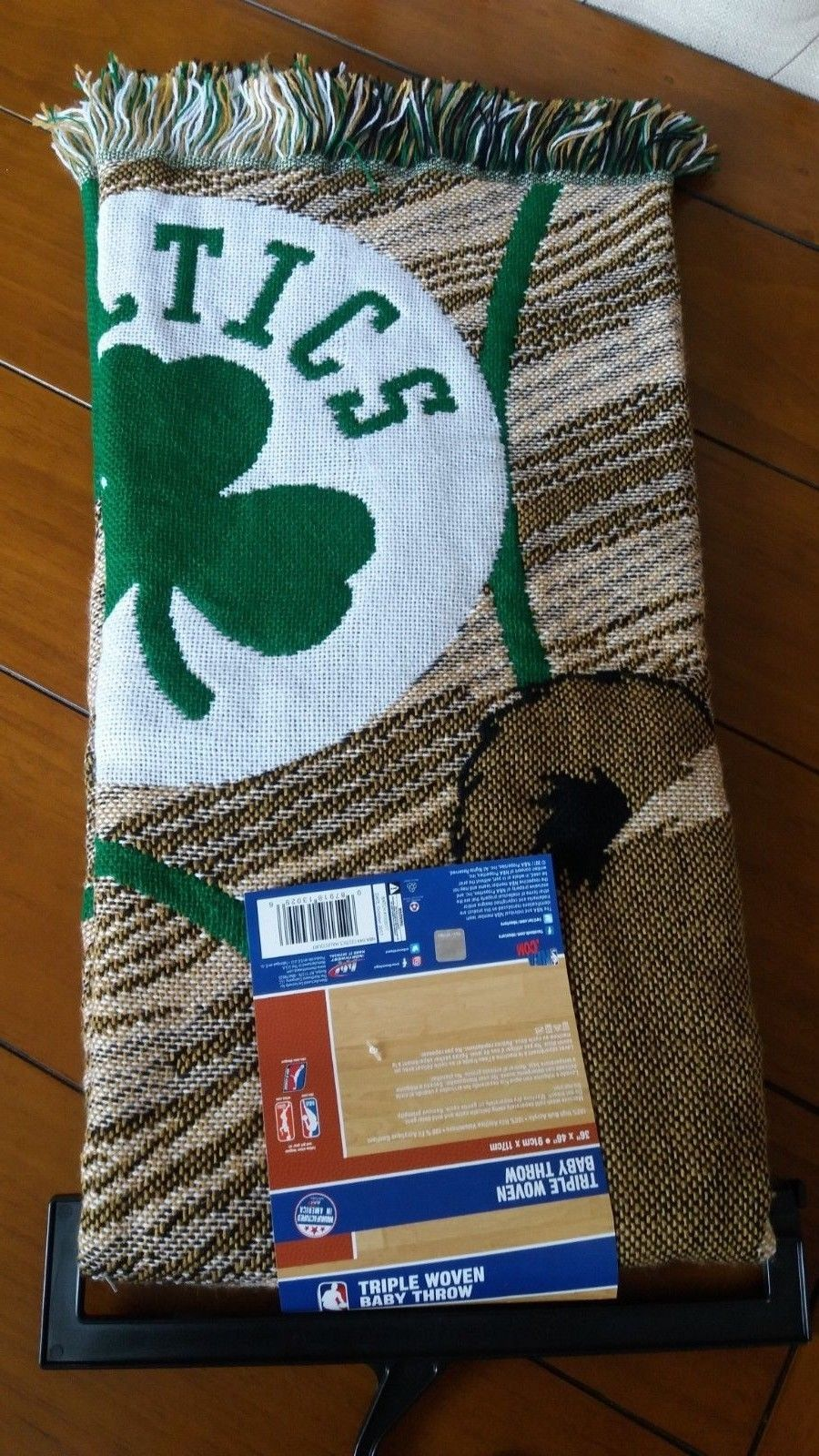 Boston Celtics Officially Licensed Child Blanket NBA Afghan Throw Baby Shower Gift 36