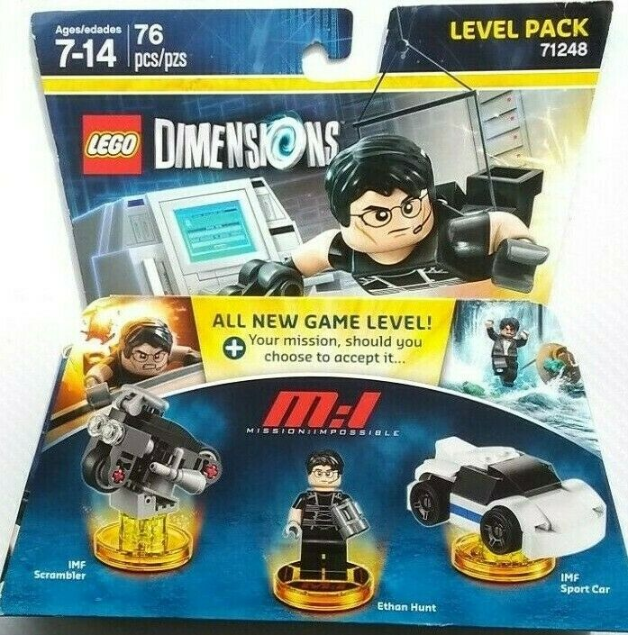 LEGO Dimensions 71248 Mission Impossible Level Pack Set Ethan Hunt Sport Car IMF Motorcycle Jet Kids Gift Retired 2017