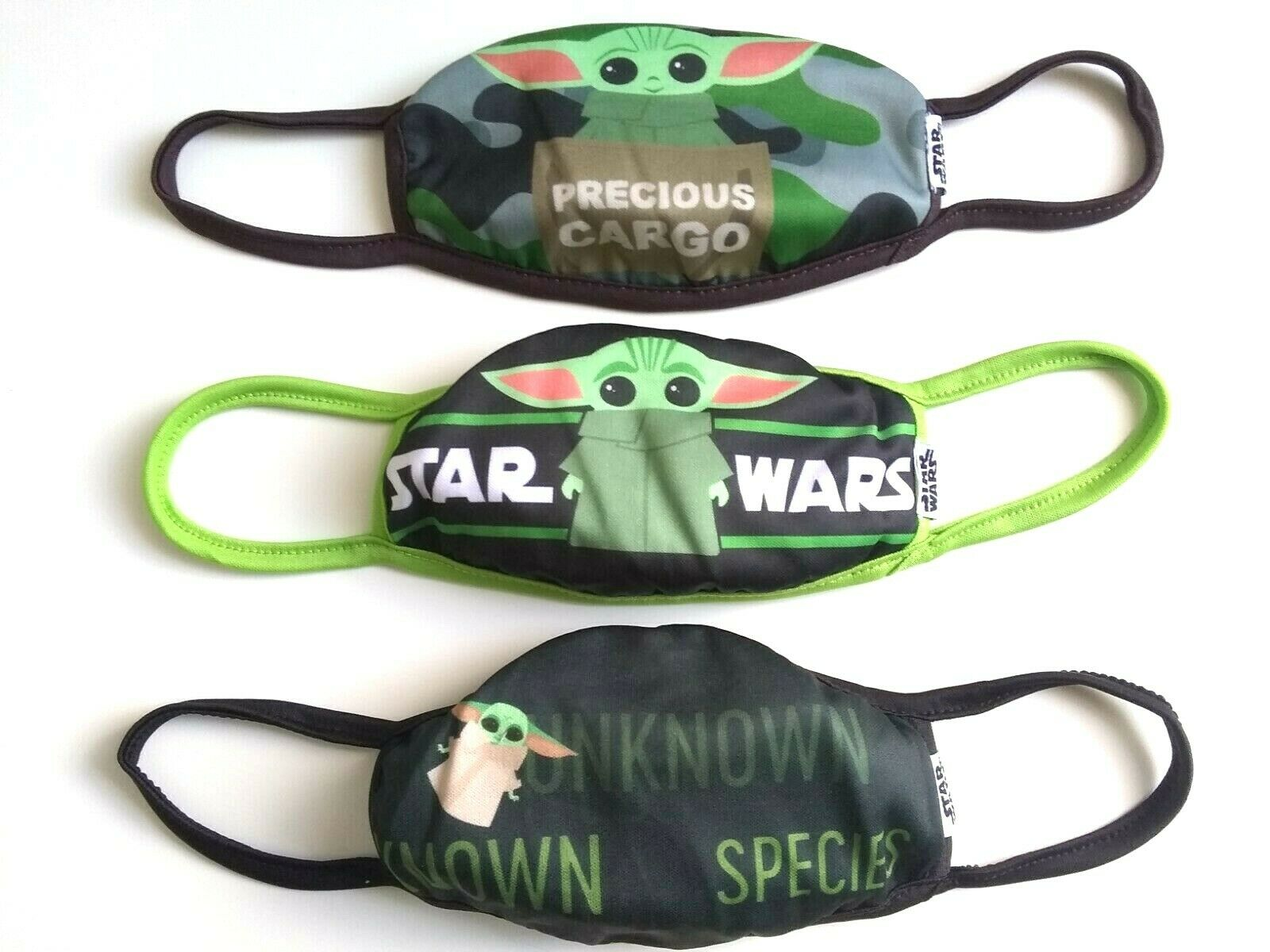 """N//A/"""" Anticlea Baby Yo-Da Star Wars Face bandanas Covering Black Reusable Washable Double Layered Adults Kids Too Close You are,M"""