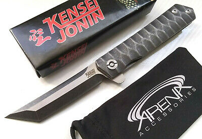 Katana Frame Lock Ball Bearing Manual Pocket Knife Water Ripple Handle 8Cr13MoV Tip-Up EDC Kensei Jonin