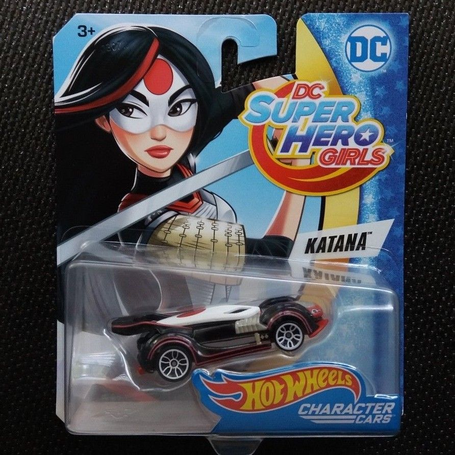 Hot Wheels DC SUPER HERO GIRLS CHARACTER CARS KATANA Rare & Brand NEW