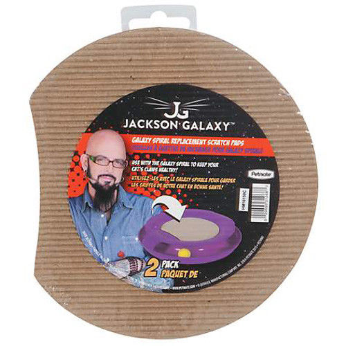 Jackson Galaxy Spiral Replacement Corrugate Cat Scratch Pads - 2 Pack