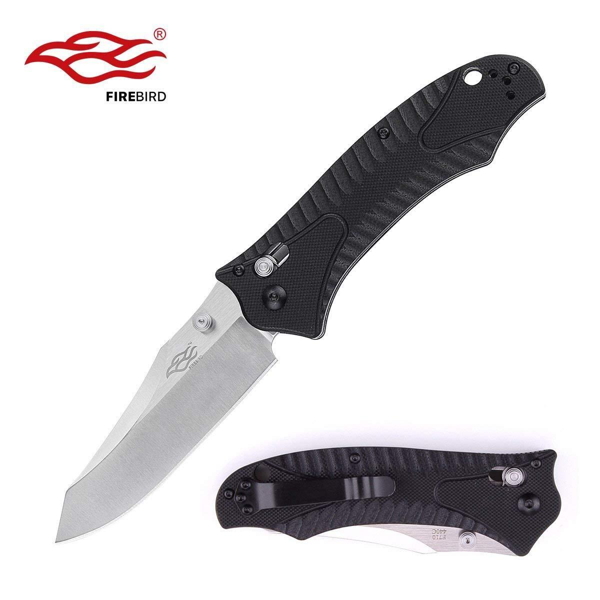 GANZO Firebird F710 Sheepsfoot Axis Lock Knife G10 Scales EDC Fast USA Free Ship