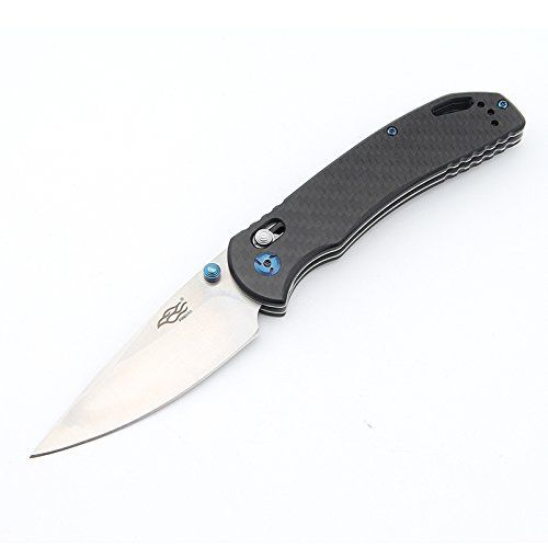 GANZO Firebird F7531-CF EDC Pocket Knife 440C Blade REAL Carbon Fiber Handle USA