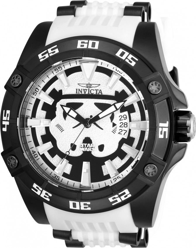 Invicta 26516 Star Wars Storm Trooper Automatic Watch Limited Edition $1395 52mm