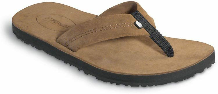 Teva Flip Flops Old Town Brown Tan Suede Leather 6149 Women's Size 10 New NWOT