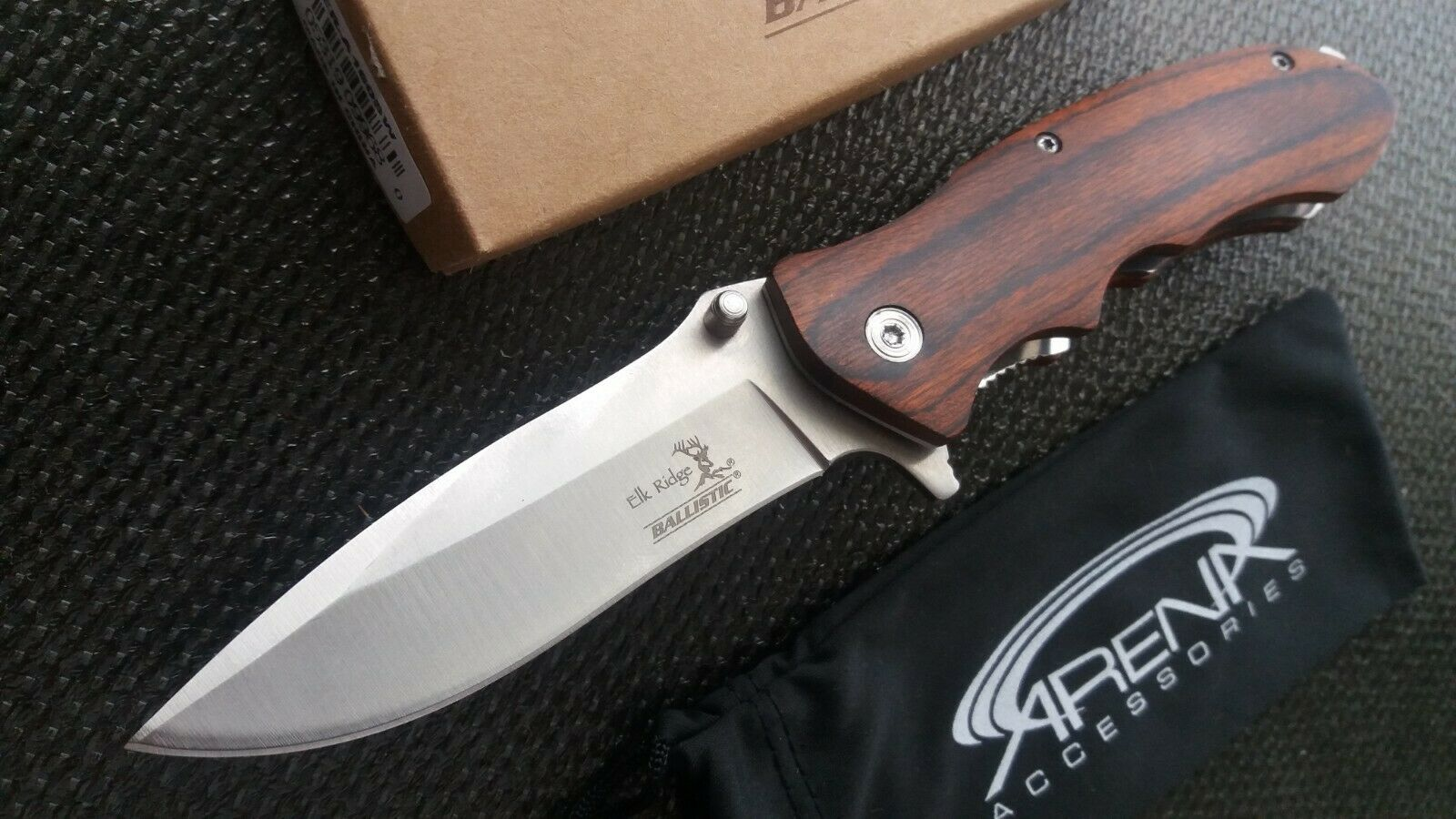 Elk Ridge Spring Assisted Open Pocket Work Knife Wood Hunting Hiking EDC Flipper
