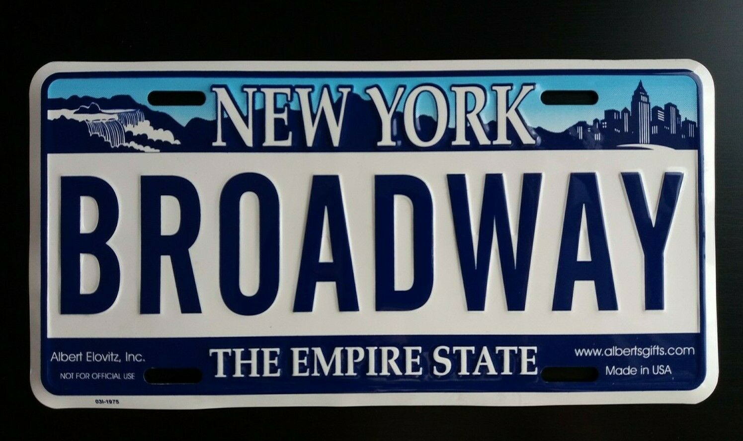 Broadway New York City Metal Vanity License Plate Collectible Gift NYC Souvenir
