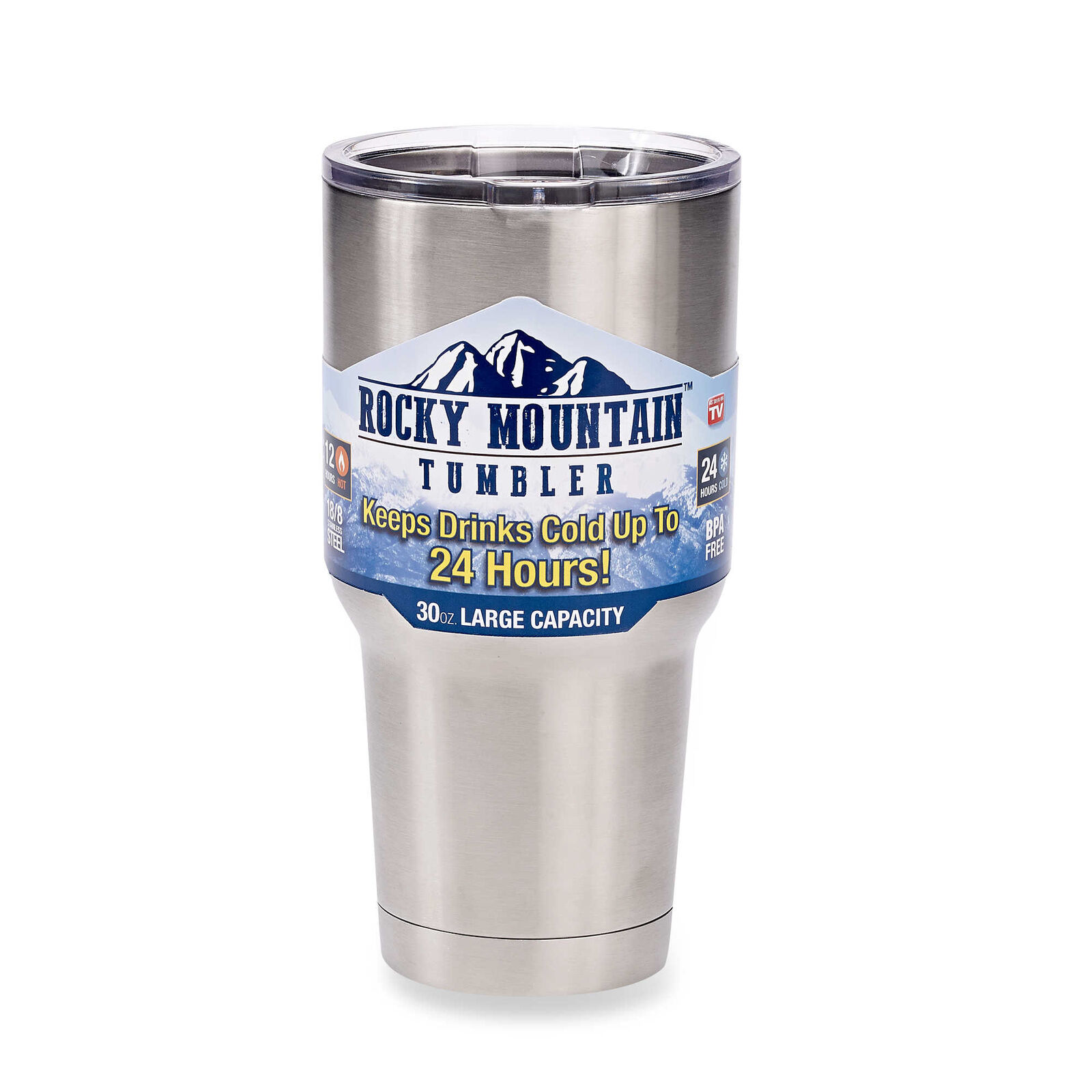 2 pc Rocky Mountain Tumbler 30oz Stainless Steel Double Wall Insulate Coffee Mug