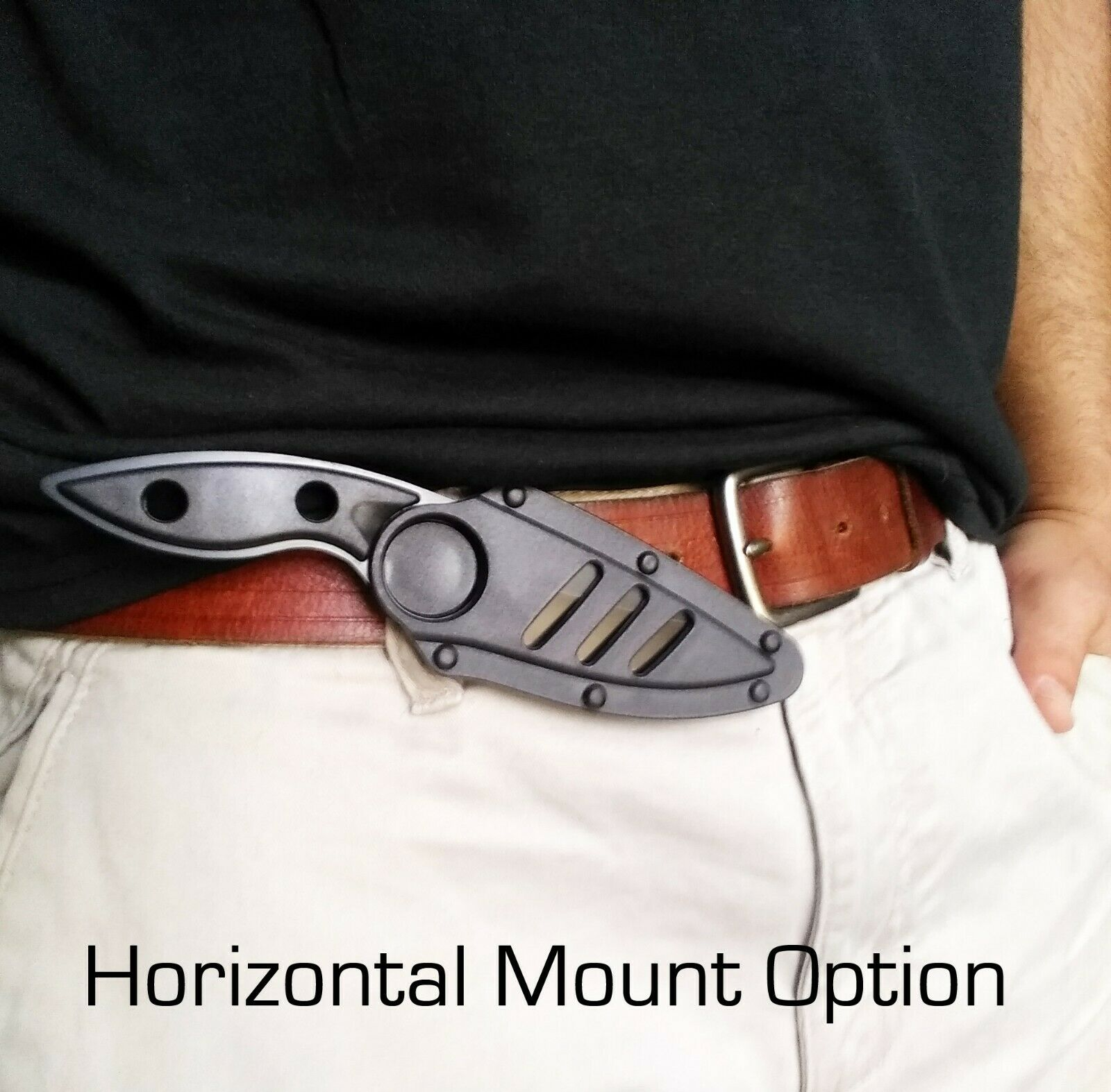Concealed Carry Fixed Blade Knife Horizontal Vertical or Angled Multi Mount Sheath EDC 4mm Thick