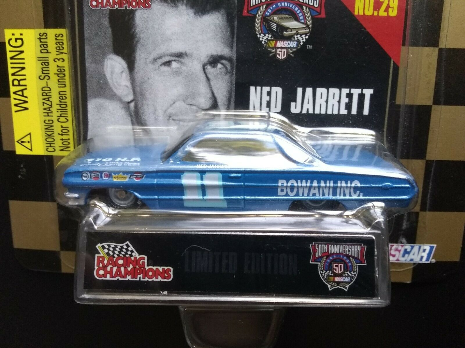 NED JARRETT 1964 Ford Galaxie #11 1998 NASCAR LEGENDS 1/64 Racing Champions Mint