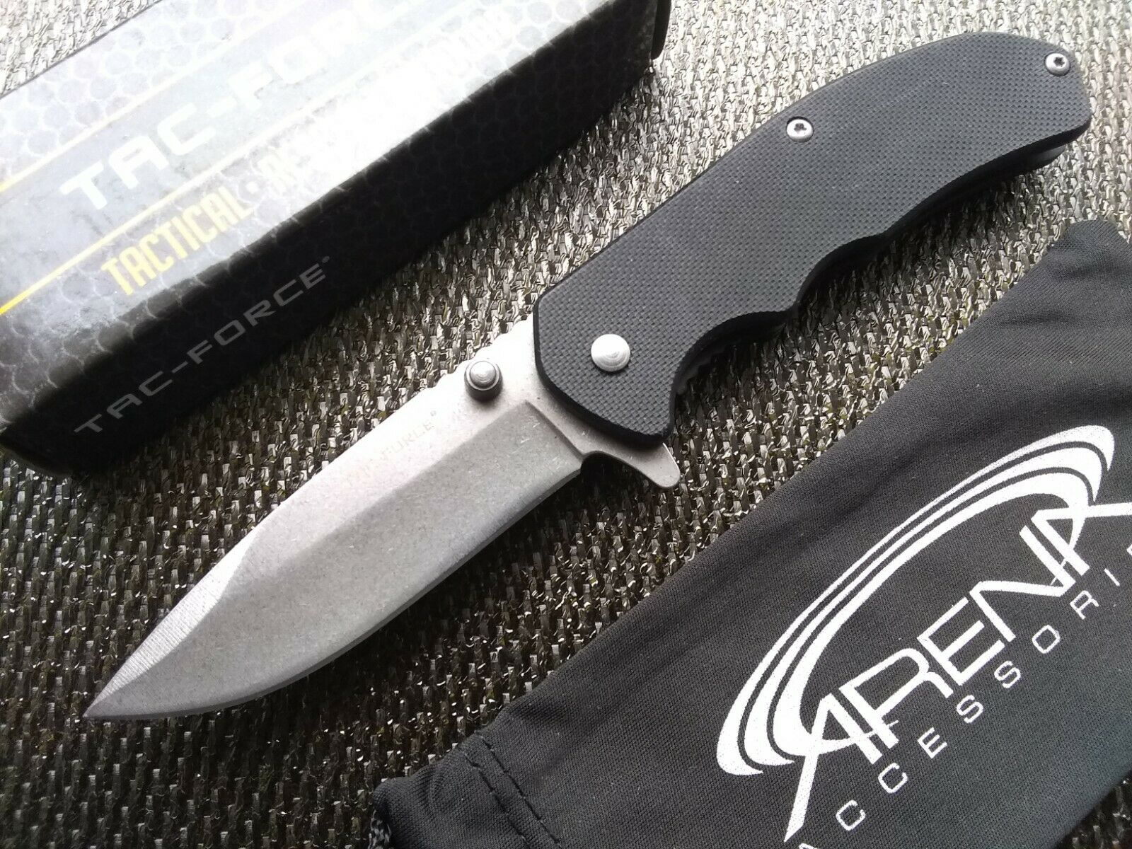 Small Stonewash EDC Flipper Pocket Knife Speed Assist Opening Grippy G10 Scales