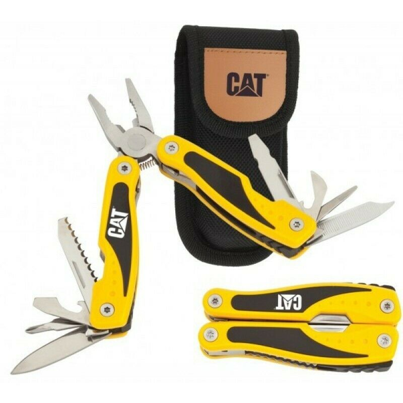 CAT Caterpillar Folding Mini 13 Function Multi-Tool Pliers Pocket Knife