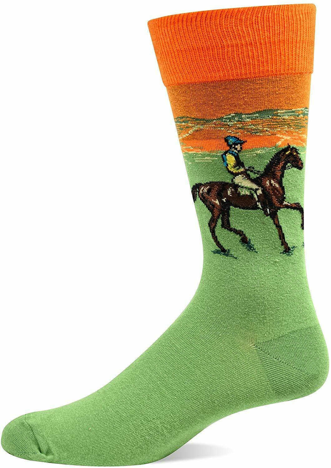 Edward Degas Race Horses Socks Famous Art Drawing Unisex Jockey Rider Men Women