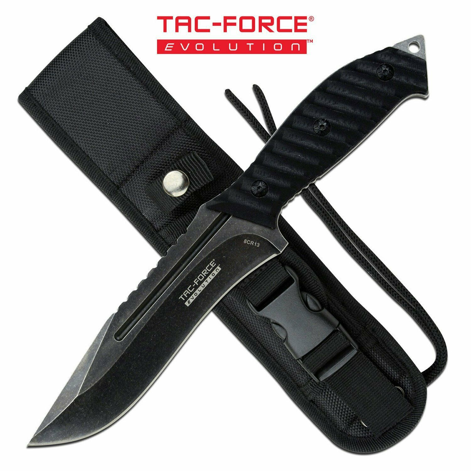 5 mm Thick Horizontal Concealed Carry Bushcraft EDC Fixed Blade Knife Stonewashed with G10 Handle