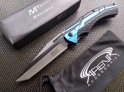 Blue Tanto Pocket Knife Star Wars Jedi Style Fighter Jet Rescue Emergency Glass Breaker EDC