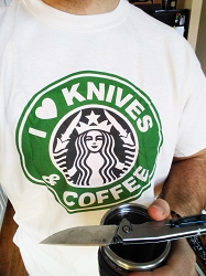 I Love Knives and Coffee EDC Enthusiast T-Shirt