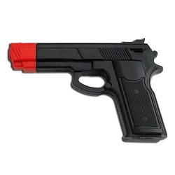 Rubber Pistol Gun Disarm Training Karate Police Practice Self Defense Class Tool DIY Prop Red Tip