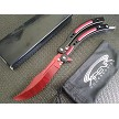 Red Tiger Stripe Dull Blade CS:GO Practice Balisong Butterfly Trainer