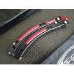 Red & Black Curved Handle Practice Butterfly Balisong Trainer