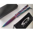 Chain Linked Butterfly Knife Rainbow Ti
