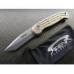 Boker Magnum 008 Tanto Automatic Button Pocket Knife Champagne Gold Switchblade