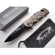Snake Skin Pocket Knife Assisted Open 1065 Surgical Stainless Brown Rattlesnake Python